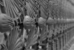 Eisen-Zaun Detail lizenzfreie stockfotografie