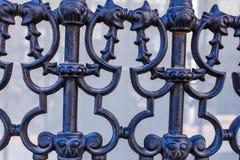 Eisen-Zaun Detail Architecture Surface lizenzfreie stockfotos