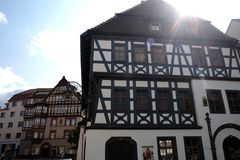 Eisenach Germany ancient architecture. Beautiful sights in the city. Travel Europe royalty free stock photo