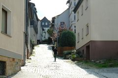 Eisenach Germany street. Beautiful sights in the city. Travel Europe stock photos