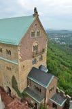 Eisenach Wartburg Schloss-Kontrollturmansicht Stockbild