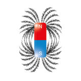 Eisenarchivierungs-Magnetfeldlinien Vektor Stockbild
