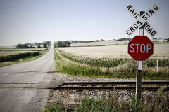 Eisenbahnüberfahrt Stockfoto