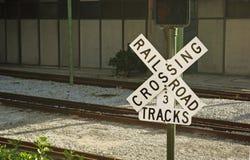 Eisenbahnüberfahrt Lizenzfreie Stockbilder