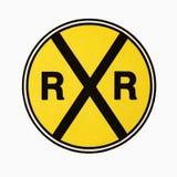 Eisenbahnüberfahrtzeichen. lizenzfreies stockbild