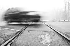 Eisenbahn-Überfahrt lizenzfreies stockbild