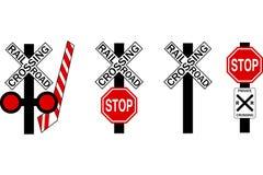 Eisenbahn-Überfahrt-Zeichen stockfotos