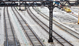Eisenbahn-Bahnen in Chicago Stockfotografie
