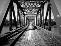 Eisenbahn-Brücke Stockfoto