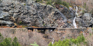 Eisenbahn-Brückenüberfahrt stockfoto