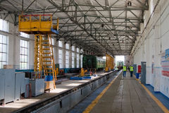 Eisenbahn-Depot Lizenzfreies Stockbild