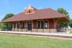 Eisenbahn-Depot in Whitewater Stockbild