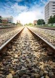 Eisenbahn in der Stadt Stockfotografie