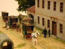 Eisenbahn des Dioramas Budweiss - Linz Stockbilder