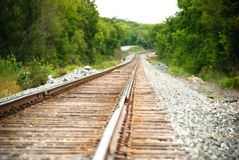 Eisenbahn an einem sonnigen Tag Stockbild