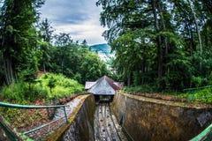 Eisenbahn für funikuläres stockfoto