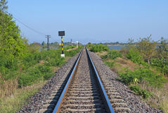 Eisenbahn für Zug in Thailand Stockbild