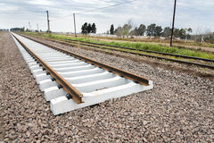 Eisenbahn im Bau Lizenzfreies Stockbild