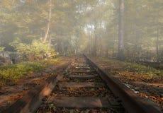 Eisenbahn im Herbst Lizenzfreie Stockfotos