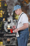Eisenbahn-Ingenieur Ready für Arbeit Stockbild