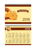 Eisenbahn-Kalender stock abbildung