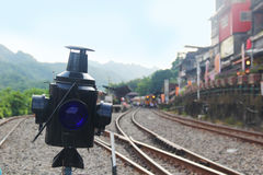 Eisenbahn in PinXi Stockfotografie