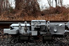 Eisenbahn-Schalter-Motor Stockfotografie