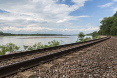 Eisenbahn-Spur szenisch stockfotos