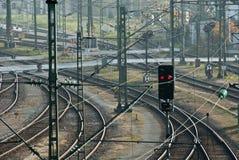 Eisenbahn-Spuren Stockbild