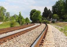 Eisenbahn-Spuren Lizenzfreies Stockfoto