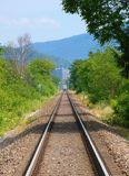 Eisenbahn-Spuren Stockfotos