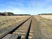 Eisenbahn u. Landschaft Stockfotografie