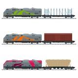Eisenbahn und Containertransport Stockbild