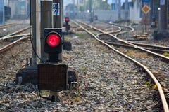 Eisenbahn und Licht Stockfotos