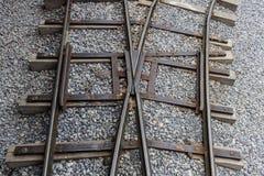 Eisenbahn-Verzweigung Stockfoto