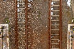 Eisenbahn von oben Stockfotos