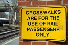 Eisenbahn-Warnzeichen Lizenzfreies Stockfoto