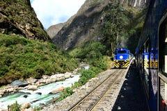Eisenbahn zu Machu Picchu Stockbild