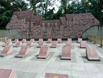 Eisenbahnarbeitskraftdenkmal, Guilin Stockfotografie