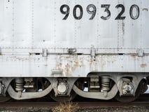 Eisenbahnautodetails Stockfoto