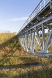 Eisenbahnbrücke über dem Fluss Lizenzfreies Stockbild