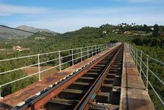 Eisenbahnbrücke Stockfotos
