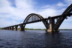 Eisenbahnbrücke Stockbild