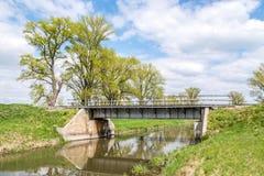 Eisenbahnbrücke auf Landschaft stockfoto
