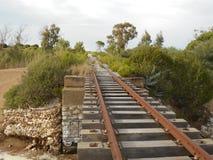 Eisenbahnbrücke Griechenland stockbild
