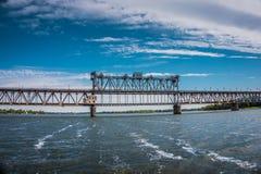 Eisenbahnbrücke Krukov Lizenzfreies Stockfoto