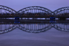 Eisenbahnbrücke - Riga, Lettland Lizenzfreie Stockbilder