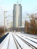 Eisenbahnen in der Stadt Lizenzfreies Stockbild