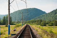 Eisenbahninfrastruktur Lizenzfreies Stockbild