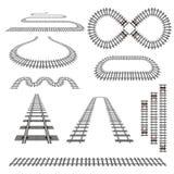 Eisenbahnkurven stellten 2 ein Stockbilder